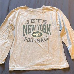 Kids NFL JETS long sleeve shirt Size = 7